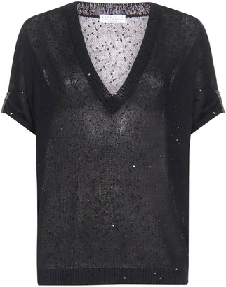 Brunello Cucinelli V-Neck T-Shirt