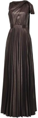 Pinko Tie-Detail Pleated Maxi-Dress