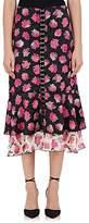Proenza Schouler Women's Floral Matte Satin Midi-Skirt