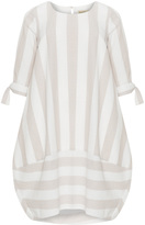 Isolde Roth Plus Size Striped cotton balloon dress
