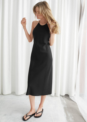 And other stories Back Strap Midi Dress