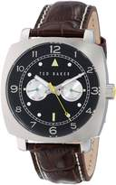 Ted Baker Men's TE1106 Sport Multi-Function Stainless Steel and Leather Watch