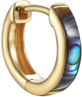 Pamela Love Abalone Inlay Huggie Hoop Single Earring - Yellow Gold