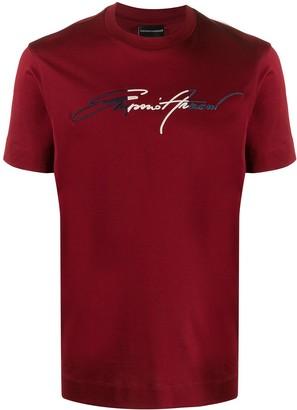 Emporio Armani crew neck logo print T-shirt