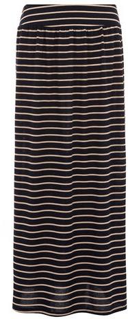 Dorothy Perkins Black and blush stripe maxi skirt