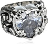 King Baby Studio Cubic-Zirconia Heart Ring, Size 8