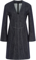 Derek Lam Cotton A-Line Dress with Contrast Stitching