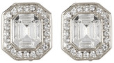 Carolee Silver-Tone Emerald Cut Clip-On Earrings