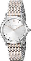 Emporio Armani Swiss Made Women's ARS7001 Analog Display Swiss Quartz Rose Gold-Tone Watch