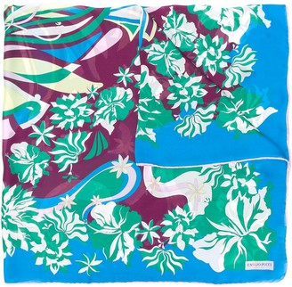 Emilio Pucci Floral-Inspired Print Scarf