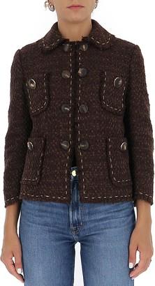 Dolce & Gabbana Cropped Tweed Jacket