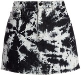 Alice + Olivia Jeans Good High-Rise Tie-Dye Mini Skirt