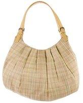 Moschino Raffia Woven Shoulder Bag
