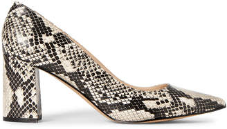Marc Fisher Natural Claire Snakeskin-Effect Pumps