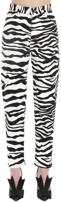 ATTICO Zebra Print Jeans