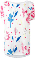 Dondup printed panel blouse - women - Silk/Cotton - XS