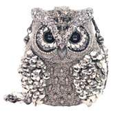 Mary Frances Silver Owl Handbag