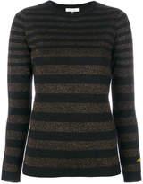 Bella Freud Disco striped lurex jumper