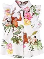 MonnaLisa Jungle Book Printed Cotton Poplin Shirt