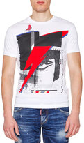 DSQUARED2 Graphic-Print Short-Sleeve Jersey Tee, White