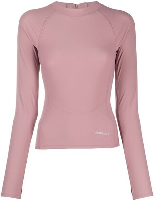Ambush Pink Scuba Long-Sleeve Top