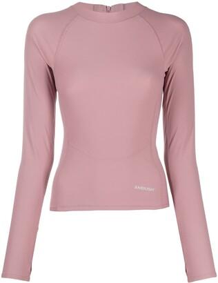 Ambush Pink Scuba Long-Sleeve Top