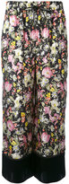 3.1 Phillip Lim cropped wide leg floral pants - women - Silk - 6
