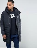 Nike Av15 Parka Jacket In Black 807393-010