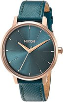 Nixon Women's 'Kensington' Quartz Metal and Leather Automatic Watch, Color:Green (Model: A1082480-00)