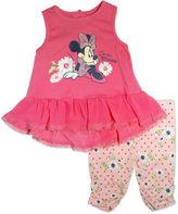 Asstd National Brand 2-pc. Minnie Mouse Legging Set-Baby Girls
