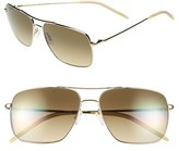 Oliver Peoples Women's 'Clifton' 58Mm Sunglasses - Gold/ Chrome Olive