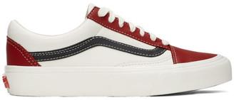 Vans Red and Off-White OG Old Skool VLT LX Sneakers