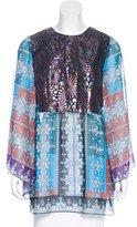 Anna Sui Jacquard Printed Blouse