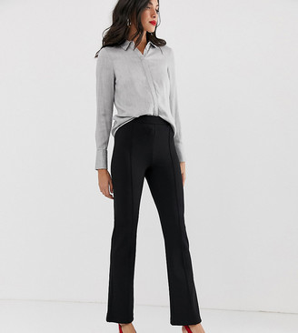 Y.A.S Tall flared trouser with seam detail-Black