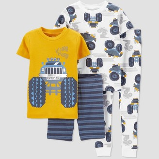Just One You Made By Carter's Baby Boys' 4pc 100% Cotton 'Trucks' Pajama Set - Just One You® made by carter's