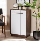 Mid-Century MODERN Design Studios Mette 5-Shelf Wood Entryway Shoe Cabinet