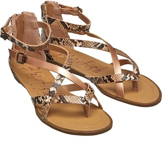 Blowfish Womens Berrie Sandals Natural Fang/Rose Gold Pisa