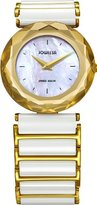 Jowissa Women's J1.004.M Safira 99 Gold Colored Bezel Mother-of-Pearl Ceramic Watch