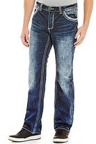 Affliction Blake Fleur De Lis Faded and Whiskered Relaxed-Fit Jeans