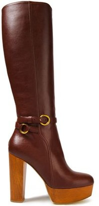Stella McCartney Faux Leather Platform Knee Boots