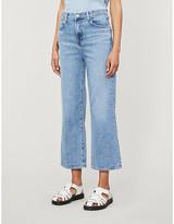 J Brand Joan wide-leg high-rise stretch-denim jeans