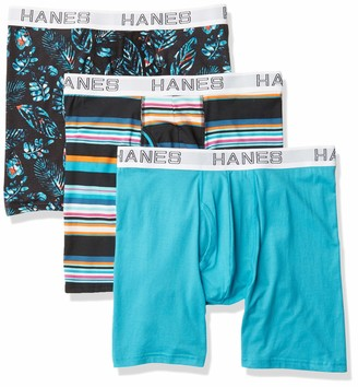Hanes Ultimate Men's Comfort Flex Fit Odor Control Boxer Briefs (3 Pack)