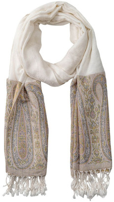 Gregory Ladner GNKS088M Tapestry White Block Scarf