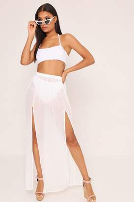 I SAW IT FIRST White Front Split Skirt