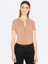 Oxford Sophie Short Sleeve Keyhole Top