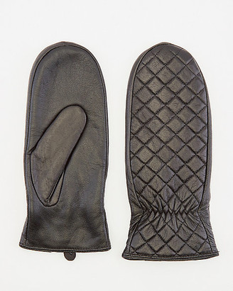 Le Château Quilted Leather Mittens