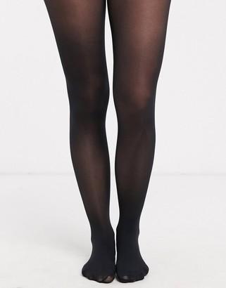 ASOS DESIGN 40 denier black tights in recycled nylon