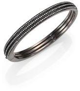 Adriana Orsini Pave Crystal Three-Row Bangle Bracelet