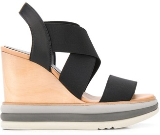 Paloma Barceló cross-strap wedge sandals