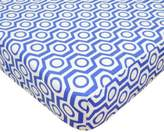 T.L.Care TL Care® Cotton Percale Crib Sheet in Royal Hexagon